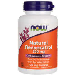 Natural Resveratrol, 200 mg 120 Veg Caps