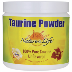 Taurine Powder  Unflavored, 335 grams Pwdr