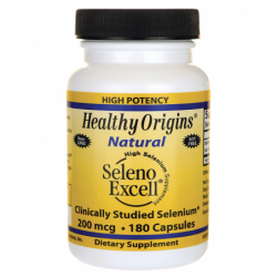 High Potency Natural Seleno Excell Selenium, 200 mcg 180 Caps