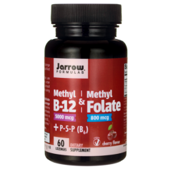 Methyl B12 & Methyl Folate  P5P  Cherry, 60 Lozenges