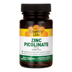 Zinc Picolinate, 25 mg 100 Tabs