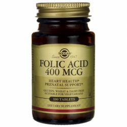 Folic Acid, 400 mcg 100 Tabs
