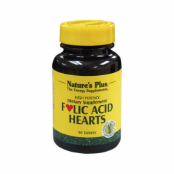 Folic Acid Hearts, 90 Tabs