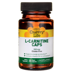 LCarnitine Caps, 500 mg 30 Vegan Caps