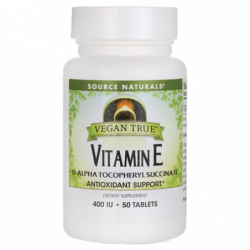 Vegan True Vitamin E, 400 IU 50 Vegan Tabs