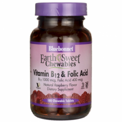 EarthSweet Chewables Vitamin B12 & Folic Acid, 180 Chwbls