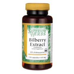 Bilberry Extract Standardized, 60 mg 120 Caps