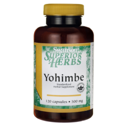 Yohimbe Standardized, 500 mg 120 Caps