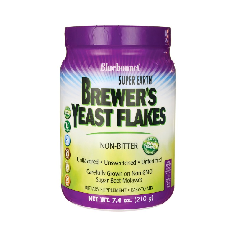 Super Earth Brewers Yeast Flakes, 7.4 oz (210 grams) Pwdr