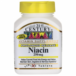 Prolonged Release Niacin, 250 mg 110 Tabs
