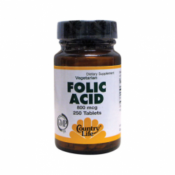Folic Acid, 800 mcg 250 Tabs
