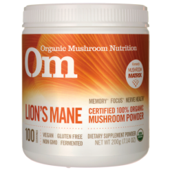 Lions Mane  Certified 100 Organic Mushroom Powder, 7.14 oz (200 grams) Pwdr
