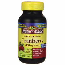 Super Strength Cranberry with Vitamin C, 450 mg 60 Sgels