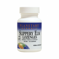 Slippery Elm Lozenges  Tangerine, 150 mg 24 Lozenges