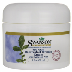 Resveratrol Wrinkle Cream with Hyaluronic Acid, 2 fl oz (59 ml) Cream