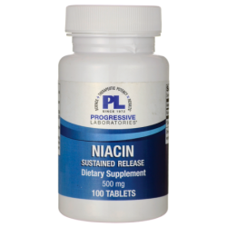 Niacin Sustained Release, 500 mg 100 Tabs