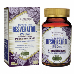 Resveratrol with AllNatural Pterostilbene, 250 mg 60 Veg Caps