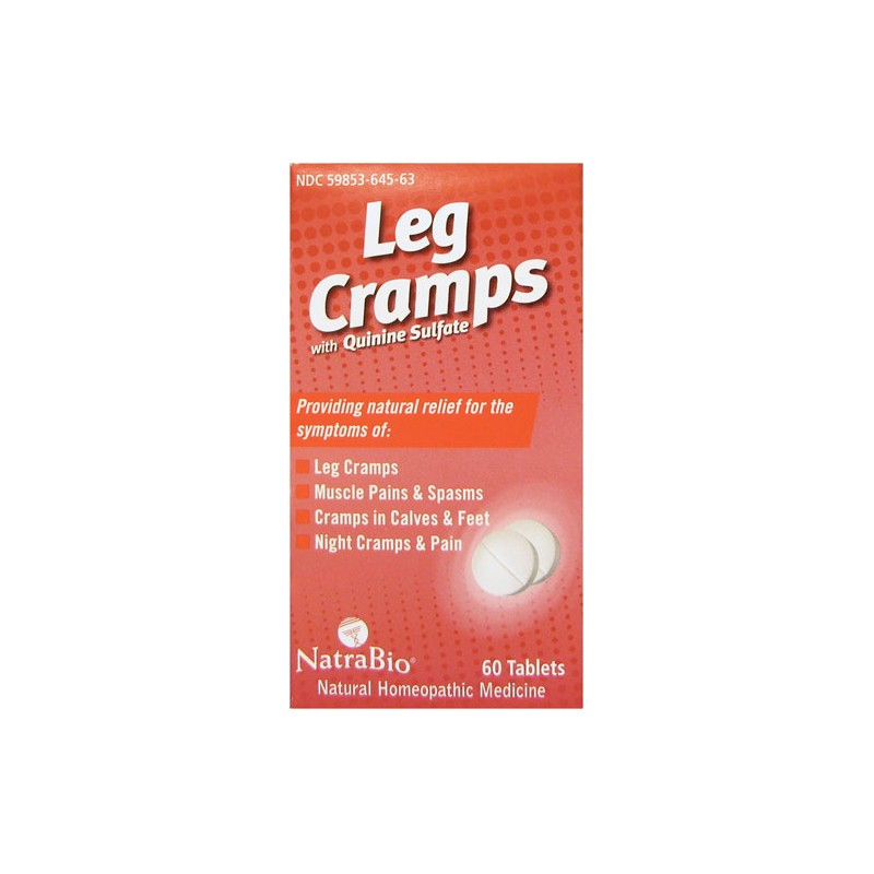 Leg Cramps with Quinine Sulfate, 60 Tabs