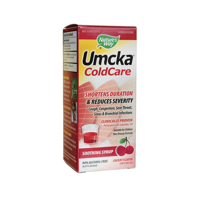 Umcka ColdCare  Cherry Flavor, 4 oz (120 mL) Liquid