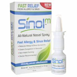 SinolM All Natural Nasal SprayFast Allergy & Sinus Relief, 15 ml Liquid
