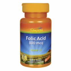 Folic Acid, 800 mcg 30 Tabs