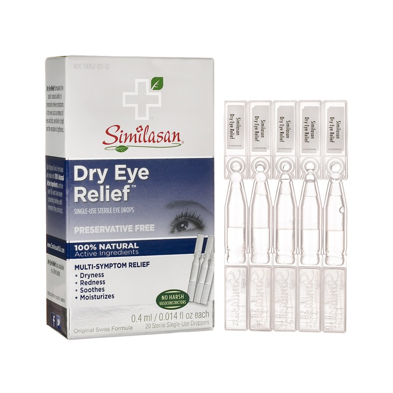 Dry Eye Relief SingleUse Droppers, 20 Doses