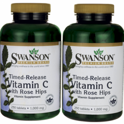 TimedRelease Vitamin C with Rose Hips, 1,000 mg 500 Tabs