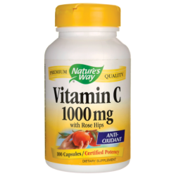 Vitamin C with Rose Hips, 1,000 mg 100 Caps