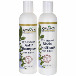 Biotin Shampoo & Conditioner with Silica Combo, 8 fl oz (237 ml) each Liquid