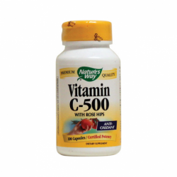 Vitamin C500 with Rose Hips, 500 mg 100 Caps