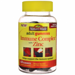 Adult Gummies Immune Complex with Zinc  Mixed Berries, 60 Gummies