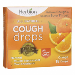Cough Drops  Orange, 18 Lozenges