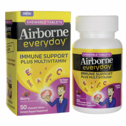 Airborne Everyday  Berry Flavored, 50 Chwbls