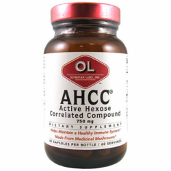 AHCC Active Hexose Correlated Compound, 750 mg 60 CAP Caps