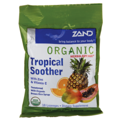 Organic Herbalozenge Tropical Soother, 18 Lozenges
