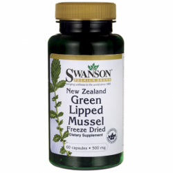 New Zealand Green Lipped Mussel, Freeze Dried, 500 mg 60 Caps