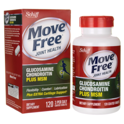 Move Free Joint Health Glucosamine Chondroitin Plus MSM, 120 Tabs