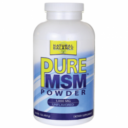 Pure MSM  Unflavored, 1,000 mg 1 lb Pwdr