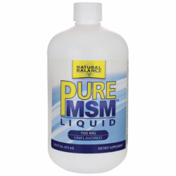 Pure MSM Liquid  Unflavored, 700 mg 16 fl oz (473 mL) Liquid