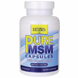Pure MSM with Glucosamine, 500mg/500mg 120 Caps