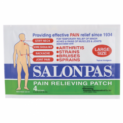 Pain Relieving Patch Large Size, 4 Ct
