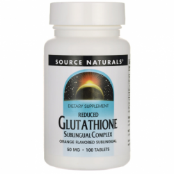 Reduced Glutathione  Orange Flavor, 50 mg 100 Tabs