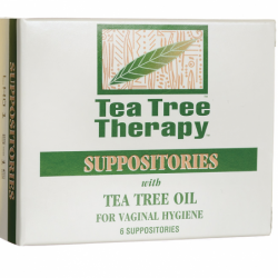 Vaginal Suppositories with Tea Tree Oil, 6 Ct