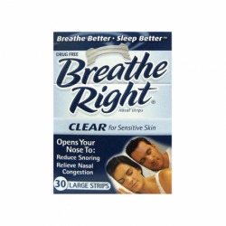 Nasal Strips Clear  Large, 30 Ct
