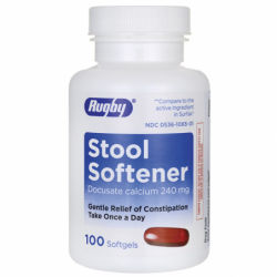 Stool Softener Docusate Calcium, 240 mg 100 Sgels