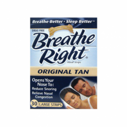 Nasal Strips Original Tan  Large, 30 Ct
