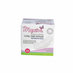Ultra Thin Winged Pads  Overnight, 10 Ct