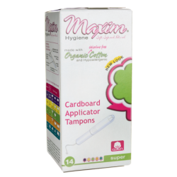 Organic Cardboard Applicator Tampons  Super, 14 Ct