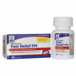 Pain Relief PM  Extra Strength, 50 Cplts