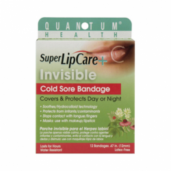 Super Lip Care  Invisible Cold Sore Bandage, 12 Ct